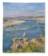 The Nile Near Aswan Fleece Blanket