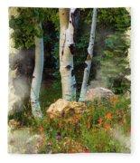The North Rim Forest Fleece Blanket