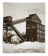 The Northwest Coal Company Breaker Eynon Pennsylvania 1971 Fleece Blanket