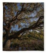 The Oak By The Side Of The Road Fleece Blanket
