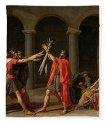 The Oath Of Horatii Fleece Blanket