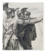 The Oath Of The Horatii, Detail Of The Horatii  Fleece Blanket