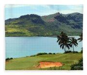 The Ocean Course At Hokuala In Kauai Fleece Blanket