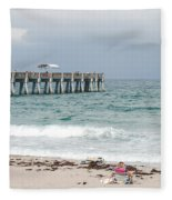 The Ocean Pier Fleece Blanket