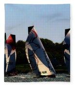 The Ocean Race Fleece Blanket