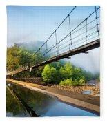 The Ocoee River Dam Fleece Blanket