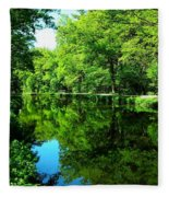 The Old Canal ... Fleece Blanket