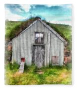 The Old Chicken Coop Iceland Turf Barn Fleece Blanket