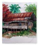 The Old Cocoa House  Fleece Blanket