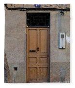The Old Door. Fleece Blanket