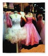 The Old Dress  Shop Fleece Blanket