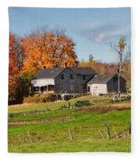 The Old Farm In Autumn Fleece Blanket