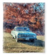 The Old Ford On The Side Of The Road Fleece Blanket