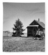 The Old Homestead Paint Fleece Blanket