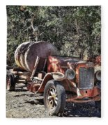 The Old Jalopy In Wine Country, California  Fleece Blanket