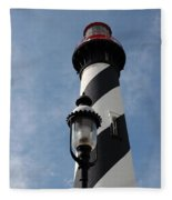 The Old Lantern And The Lighthouse Fleece Blanket