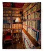 The Old Library Fleece Blanket