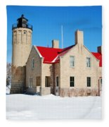 The Old Mackinac Point Lighthouse Fleece Blanket