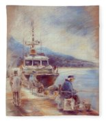 The Old Man And The Sea 01 Fleece Blanket