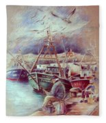 The Old Man And The Sea 02 Fleece Blanket