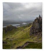 The Old Man Of Storr, Isle Of Skye, Uk Fleece Blanket