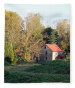 The Old Mill At Guilford II Fleece Blanket