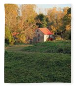 The Old Mill At Guilford Fleece Blanket