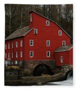 The Old Mill In Clinton Nj Fleece Blanket