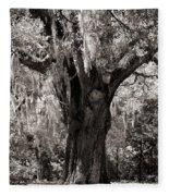 The Old Oak Is Still Standing Fleece Blanket