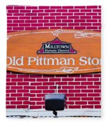 The Old Pittman Store Sign Fleece Blanket