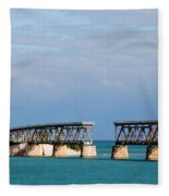 The Old Railroad To The Keys Fleece Blanket