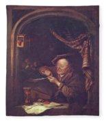 The Old Schoolmaster 1671 Fleece Blanket
