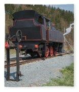 The Old Steam Locomotive Fleece Blanket