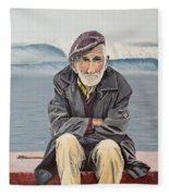 The Old Waterman Fleece Blanket by Kevin Daly