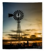 The Old Windmill Fleece Blanket