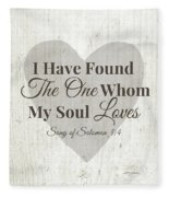 The One Whom My Sould Loves- Art By Linda Woods Fleece Blanket