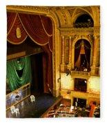 The Opera House Of Budapest Fleece Blanket