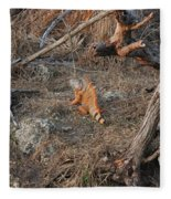 The Orange Iguana Fleece Blanket