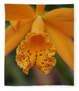 The Orange Orchid Fleece Blanket