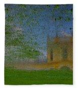 Fairytale Castle On A Meadow. Fleece Blanket