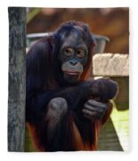 The Orangutan Fleece Blanket