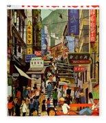 The Orient Is Hong Kong - B O A C  C. 1965 Fleece Blanket