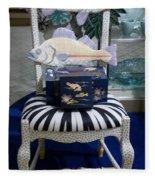 The Original Fish Chair  Fleece Blanket