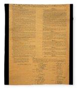 The Original United States Constitution Fleece Blanket