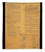 The Original United States Constitution Fleece Blanket