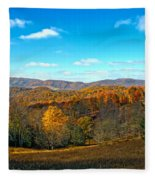 The Other Side Of The Road In Wv Fleece Blanket