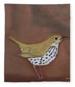 The Ovenbird Fleece Blanket