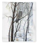The Owl Fleece Blanket