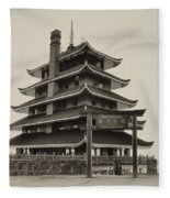 The Pagoda - Reading Pa. Fleece Blanket