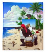 The Painting Pirate Fleece Blanket